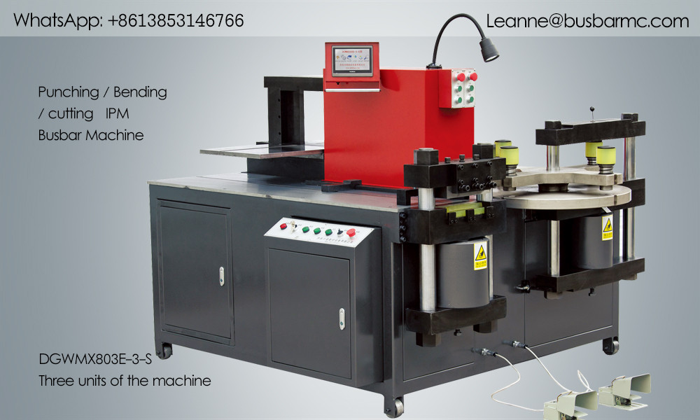 803E-3-S Copper Bending Punching Cutting 4-in-1 Busbar Machine
