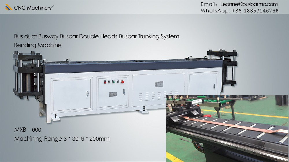 Double heads copper busbar bending machine busbar processing machine